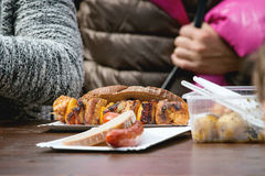 Street food in Prague Stock Image