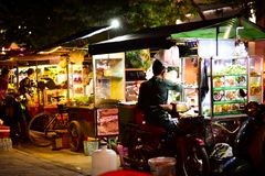 Street food beside the road of Cambodia royalty free stock photo