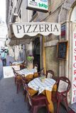 Street food in Rome, outside pizzeria Stock Photos