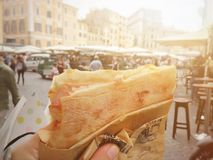 Street food in Rome royalty free stock photography