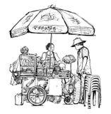 Street food seller in Bangkok Stock Photography