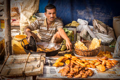 Street food seller royalty free stock photography
