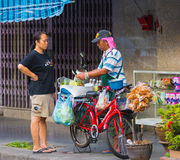 Street food seller in Thailand Royalty Free Stock Photography