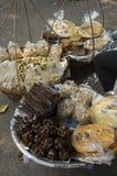 Street food sidewalk snack peanut fish dry stall concept Royalty Free Stock Image