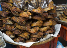 Street food sidewalk snack peanut fish dry stall concept Royalty Free Stock Photo