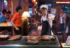 Street food stall Stock Photos