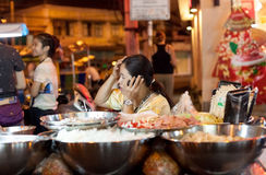 Street food stall. Royalty Free Stock Photos