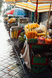 Street food stall with grilled corn, Bali stock photos