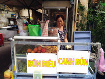 Street Food Stall in Saigon, Ho Chi Minh, Vietnam Stock Photography