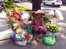 Street Food Stall in Saigon, Ho Chi Minh, Vietnam Royalty Free Stock Photo