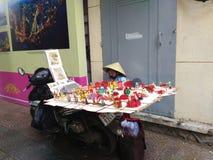 Street Food Stall in Saigon, Ho Chi Minh, Vietnam Stock Photo
