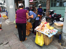 Street Food Stall in Saigon, Ho Chi Minh, Vietnam Royalty Free Stock Photography