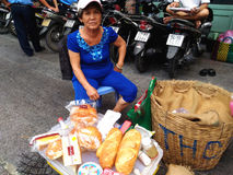 Street Food Stall in Saigon, Ho Chi Minh, Vietnam Royalty Free Stock Image
