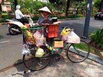 Street Food Stall in Saigon, Ho Chi Minh, Vietnam Stock Photos