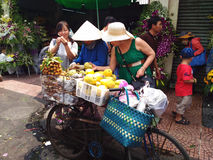 Street Food Stall in Saigon, Ho Chi Minh, Vietnam Stock Images