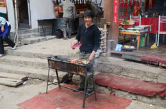 Street food stands in Shangrila China Stock Photos