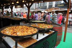 Street food, stewed vegetables. Budapest, Hungary Royalty Free Stock Images