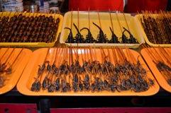 Street food. At beijing dong`anmen night market royalty free stock images
