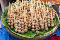 A street food in Thailand with fried and stir menu. Some oriental and unique. Food stock photo