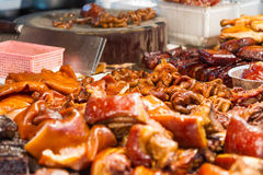 Street food at traditional market in Taiwan Stock Photography