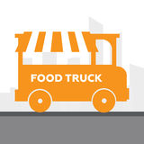 Street food van. Fast  delivery Royalty Free Stock Photos