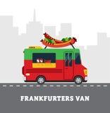 Street food van. Fastfood delivery. Flat design Stock Photos