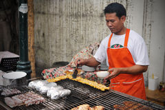 Street Food Vendor in Bangkok Stock Image