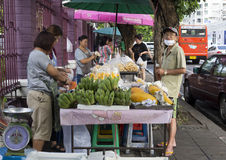Street food vendor, Bangkok Royalty Free Stock Images