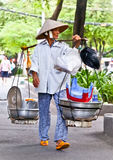 Street food vendor in Ho Chi Minh, Vietnam. Royalty Free Stock Images