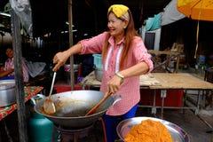 Street food vendor, Rayong city Stock Image