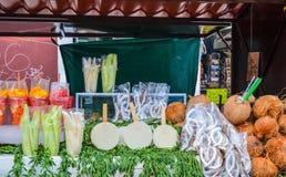 Street food vendors, Cholula, Puebla, Mexico. 18th May Royalty Free Stock Images