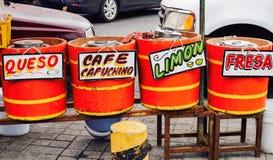 Street food vendors, Cholula, Puebla, Mexico. 18th May Stock Image