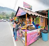 Street food in Volcan stock photography