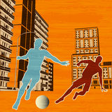 Street Football Stock Image