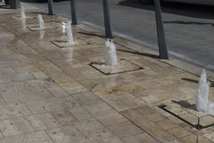 Street fountains in Budapest Royalty Free Stock Photo