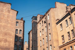 Street fragment with yellow houses. Saint-Petersburg, Rus Stock Photo