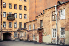 Street fragment with yellow houses. Saint-Petersburg Royalty Free Stock Photos