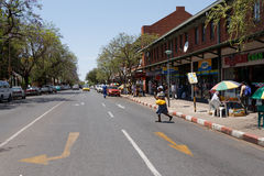Street in Francis Town, Botswana Stock Image