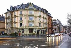 Street in Frankfurt am Main. Germany Stock Image