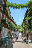 Street in Freiburg Royalty Free Stock Photography