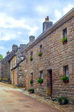 Street in the French brittany Royalty Free Stock Photography