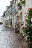Street in French country towns in the Valley of Loire Royalty Free Stock Photography