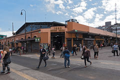 Street in front of the central market in downtown San Jose, Costa Rica Stock Photography
