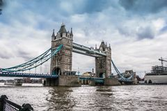 The view of London bridge stock photography