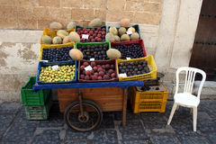 Street fruit shop Stock Images