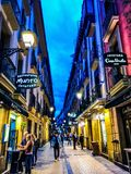 Pintxo street on San Sebastián royalty free stock photography