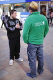 Street fundraiser NSPCC Stock Image