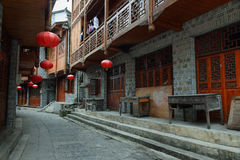 Street in Furong (Hibiscus) ancient village Stock Image