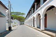 Street in Galle, Sri Lanka Royalty Free Stock Photos