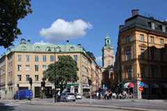 Street in Gamla stan royalty free stock photography